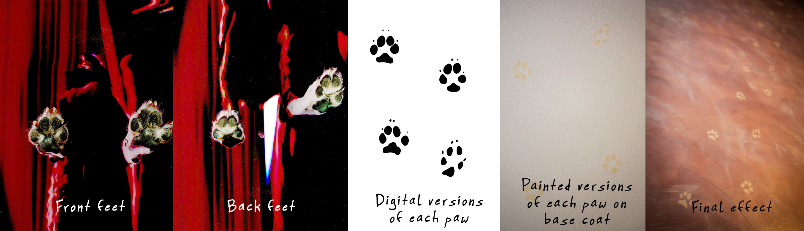 This is the evolution of the paw print project.