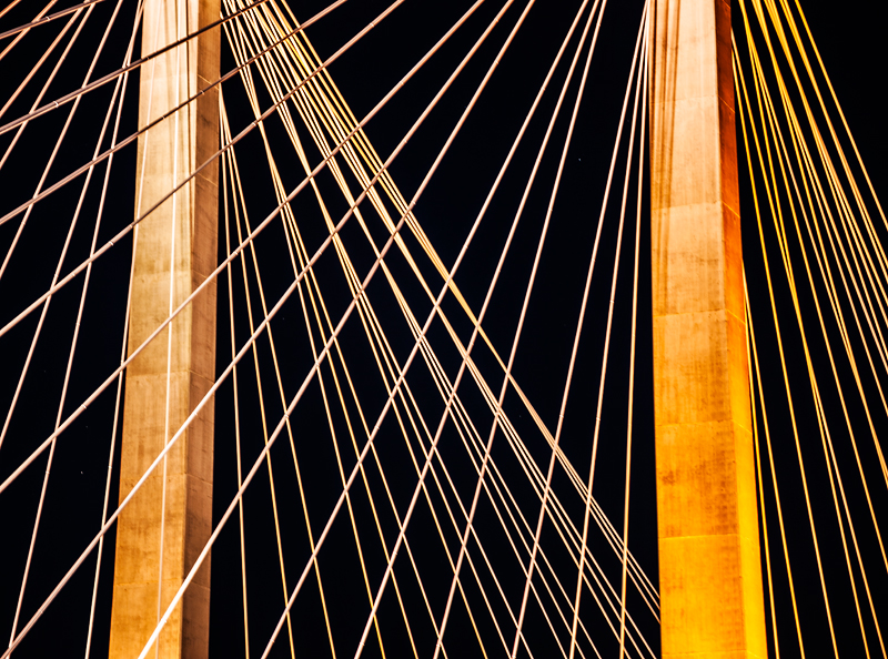 Detail shot of the Cable Bridge
